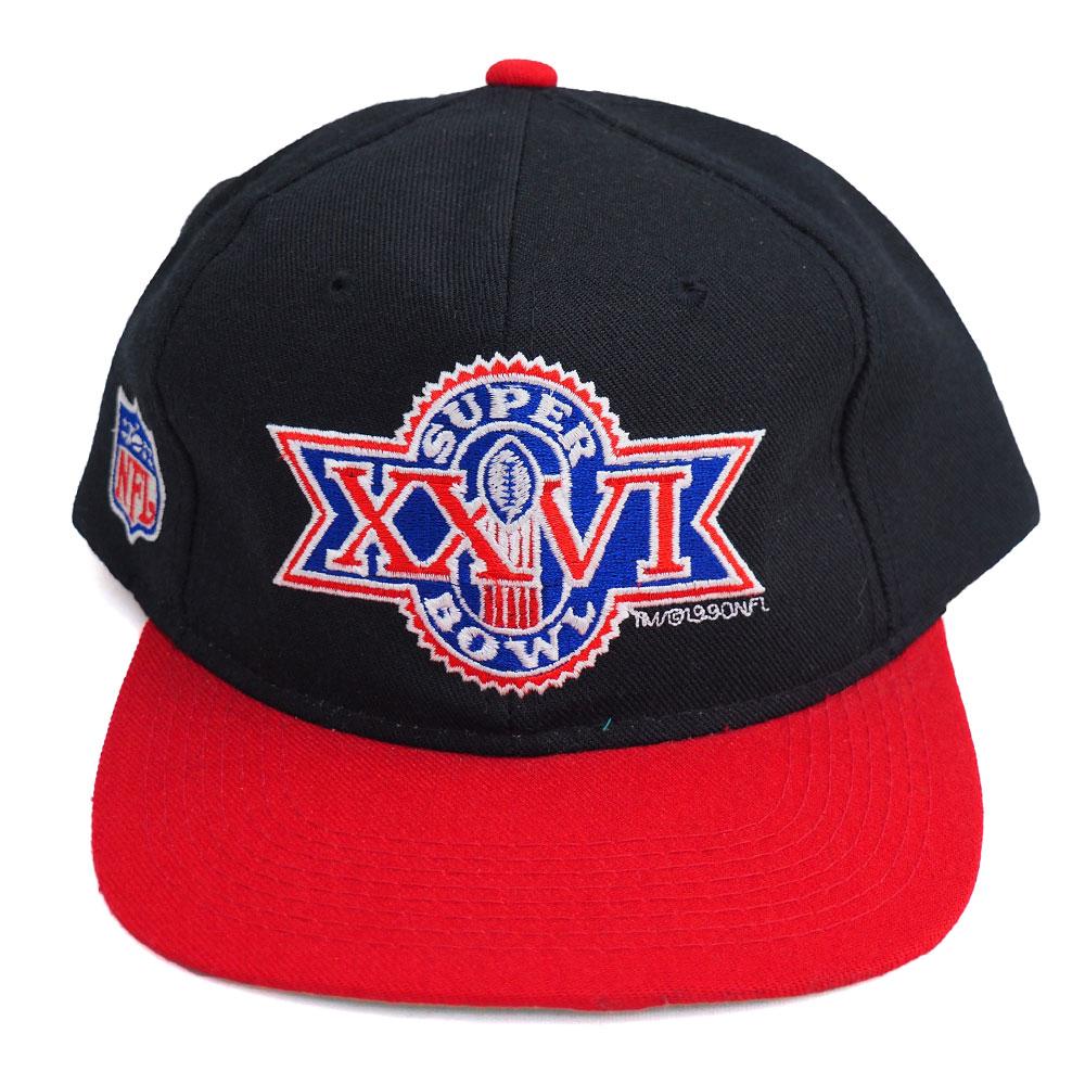 NFL 第26回 スーパーボウル ロゴキャップ/帽子 Logo7 ブラック/レッド