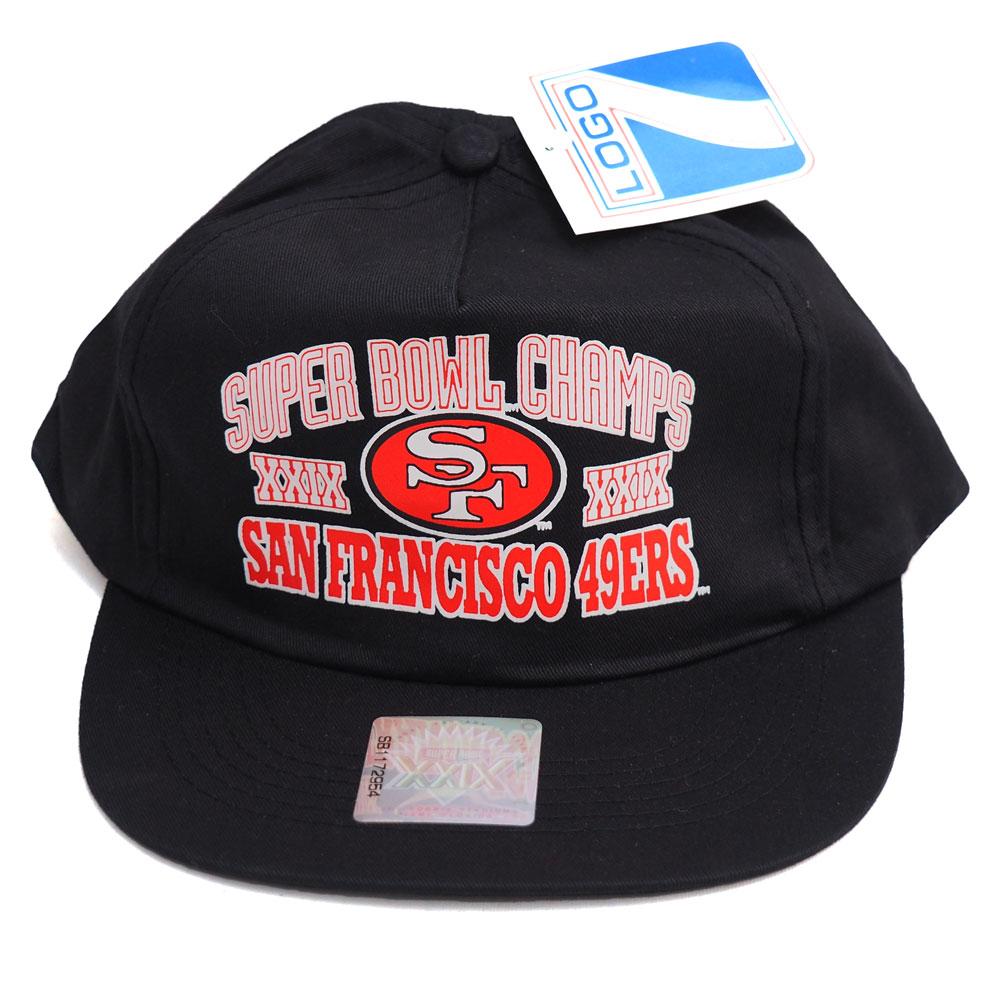 NFL 49ers 第29回 スーパーボウル 優勝記念キャップ/帽子 Logo7 ブラック レアアイテム レアアイテム レアアイテム