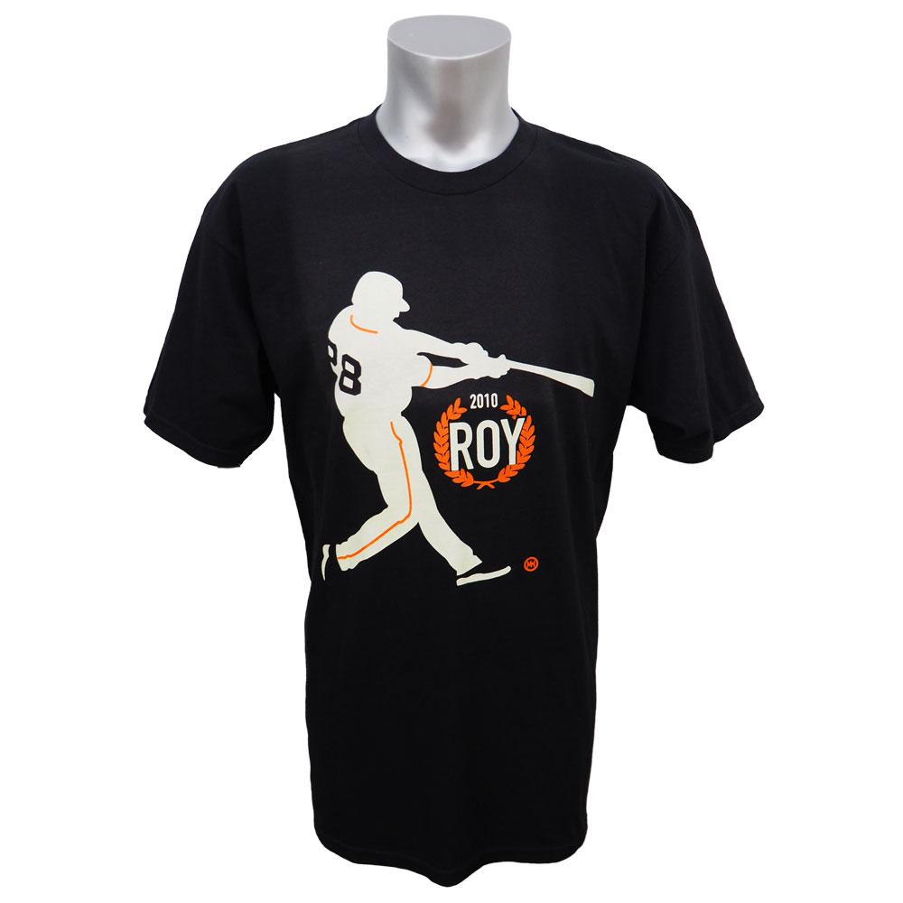 MLB ジャイアンツ バスター・ポージー 2010年度 ルーキーオブザイヤー 受賞記念 Tシャツ Bay Area ブラック レアアイテム