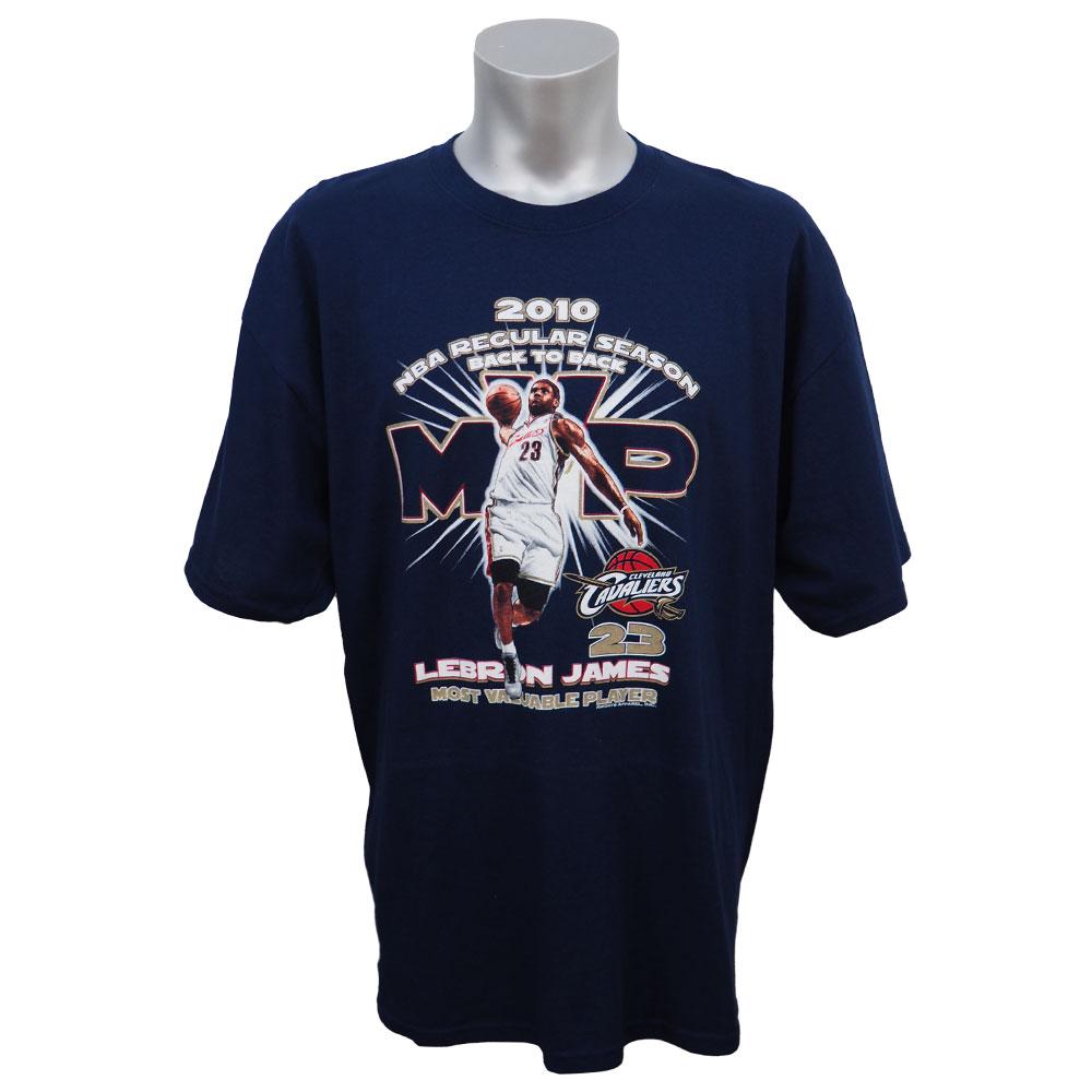 NBA Tシャツ キャバリアーズ レブロン・ジェームズ ファイナルMVP 2年連続受賞記念 Gildan ネイビー レアアイテム