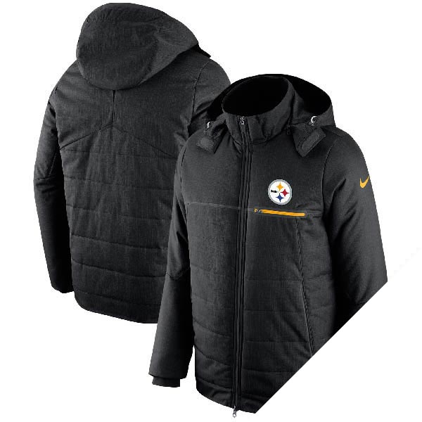 订单 NFL 钢人队冠军驱动器副业充分邮编夹克耐克 /Nike 黑色