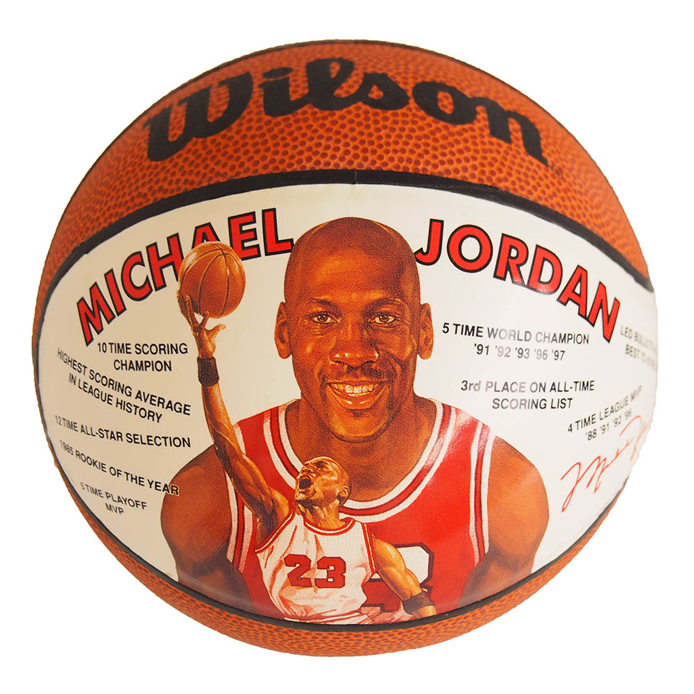 NBA ブルズ マイケル・ジョーダン ミニバスケットボール 1991年モデル Wilson レアアイテム