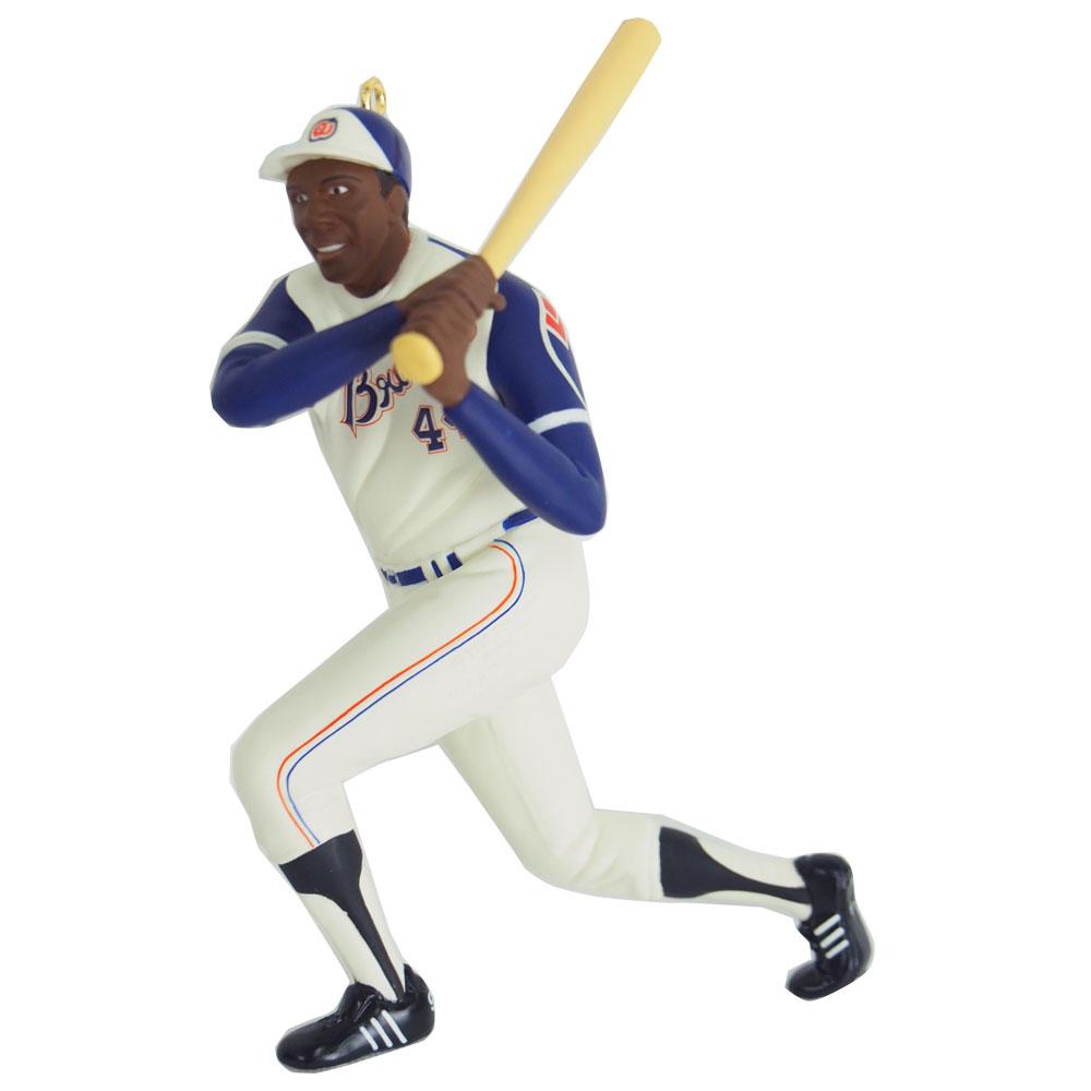 MLB ブレーブス ハンク・アーロン クリスマスオーナメント Hallmark レアアイテム