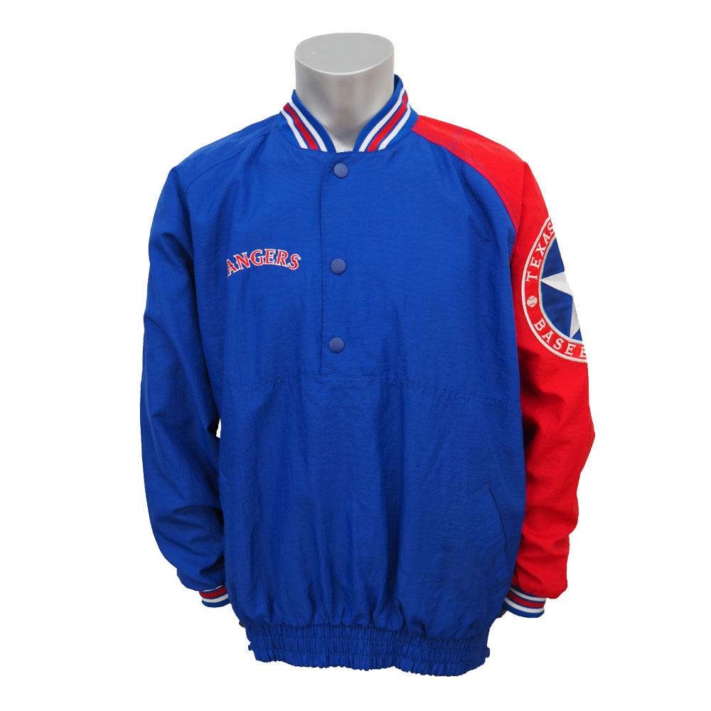 MLB レンジャーズ ダイアモンドコレクション ダグアウト プルオーバージャケット STARTER ブルー/レッド レアアイテム