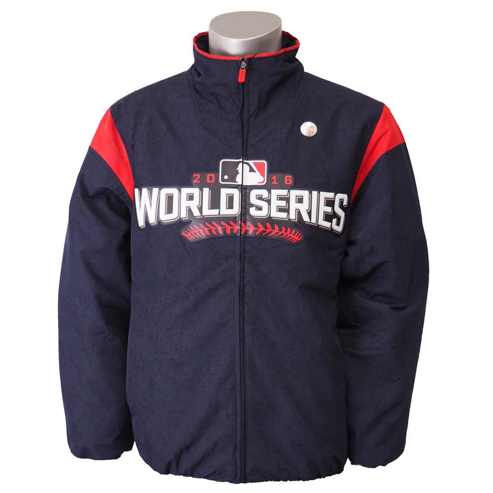 MLB ワールドシリーズ2016 プレミア ジャケット マジェスティック/Majestic ネイビー【セール】