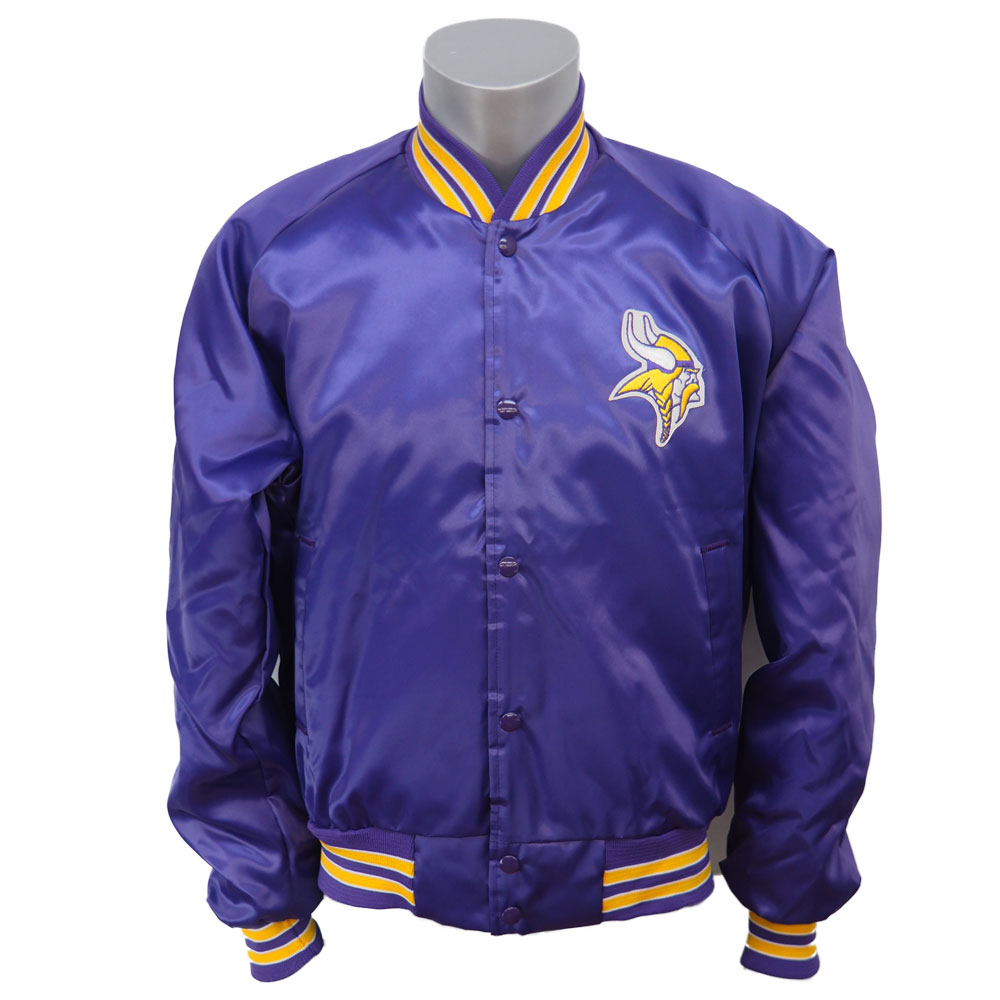 NFL スタジアムジャンパー バイキングス オーセンティック サテンジャケット Chalk Line パープル レアアイテム