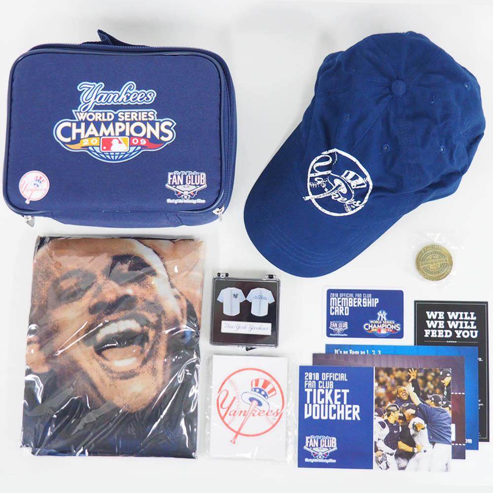 MLB ヤンキース ファンクラブセット 2009 ワールド チャンピオンズ キット SGA レアアイテム