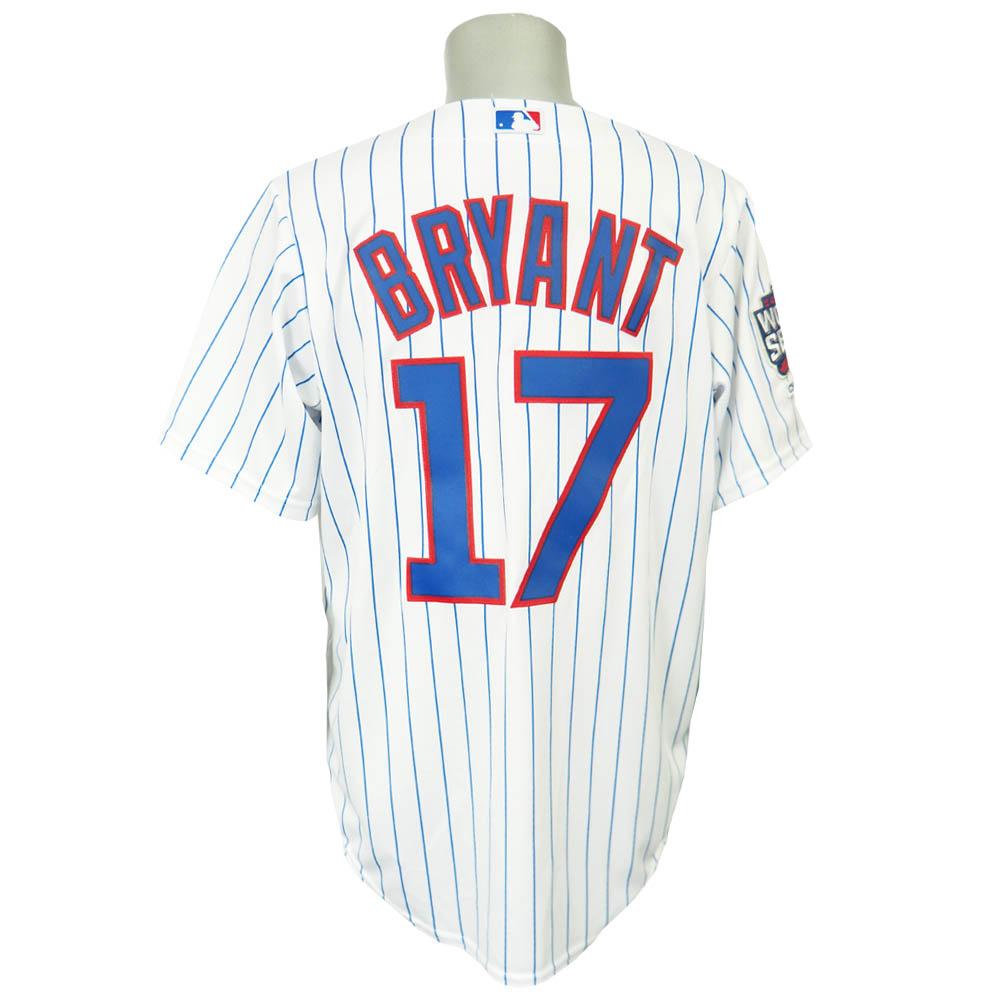 MLB カブス クリス・ブライアント ワールドチャンピオン クールベース レプリカ ユニフォーム マジェスティック/Majestic ホワイト