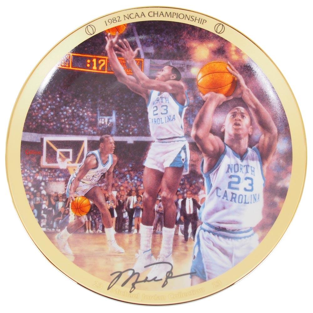 NCAA ターヒールズ マイケル・ジョーダン コレクター プレート 1982 NCAA チャンピオンシップ (1438A) Upper Deck レアアイテム