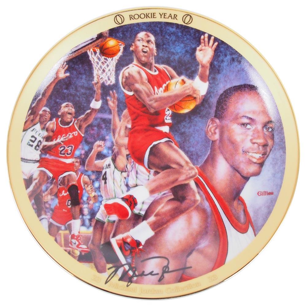 NBA ブルズ マイケル・ジョーダン コレクター プレート ルーキーイヤー (7046B) Upper Deck