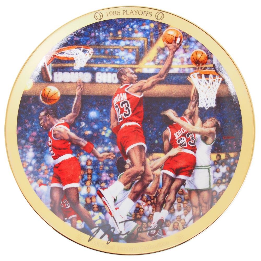 NBA ブルズ マイケル・ジョーダン コレクター プレート 1986 プレーオフ (6489B) Upper Deck レアアイテム