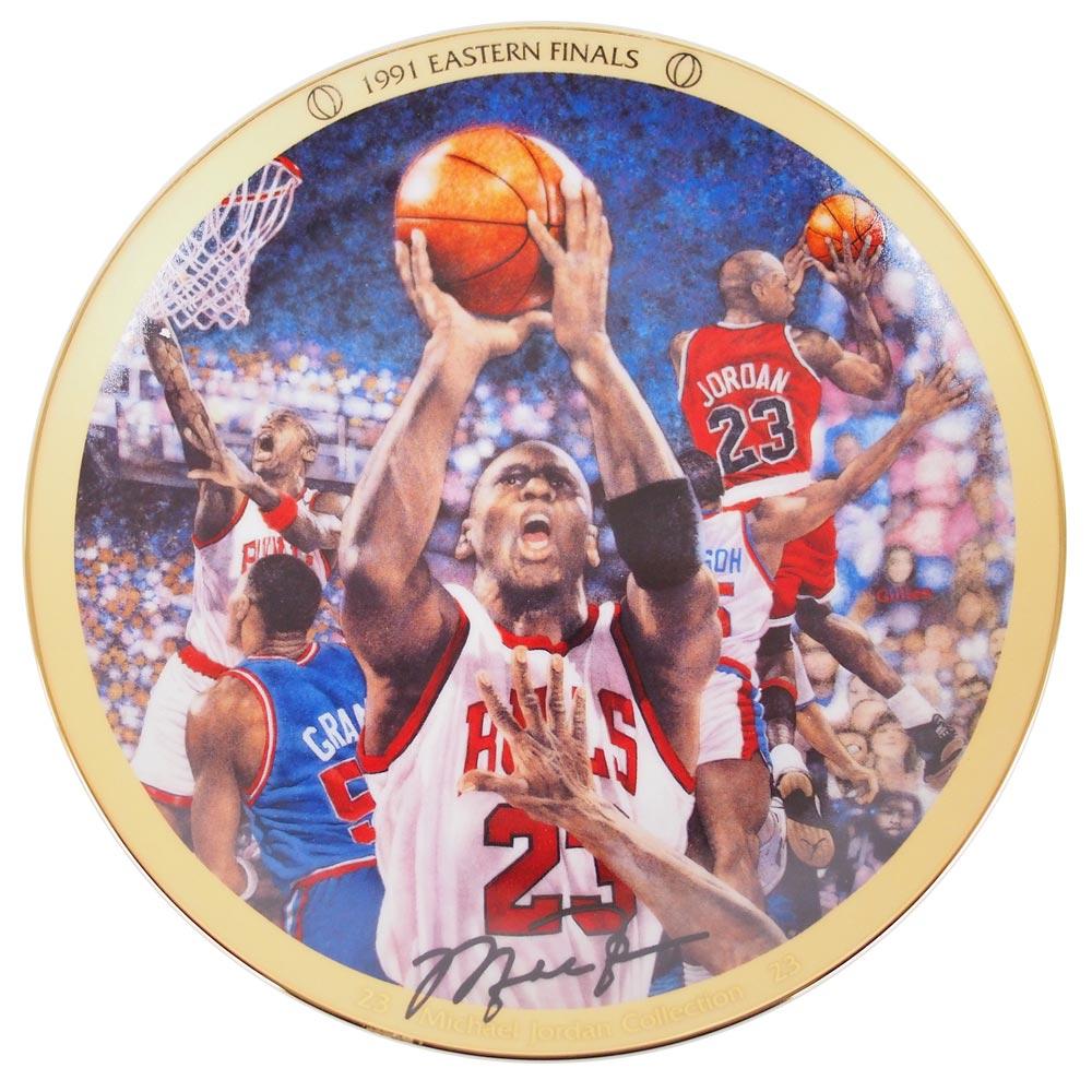NBA ブルズ マイケル・ジョーダン コレクター プレート 1991 イースタン ファイナル (3814A) Upper Deck