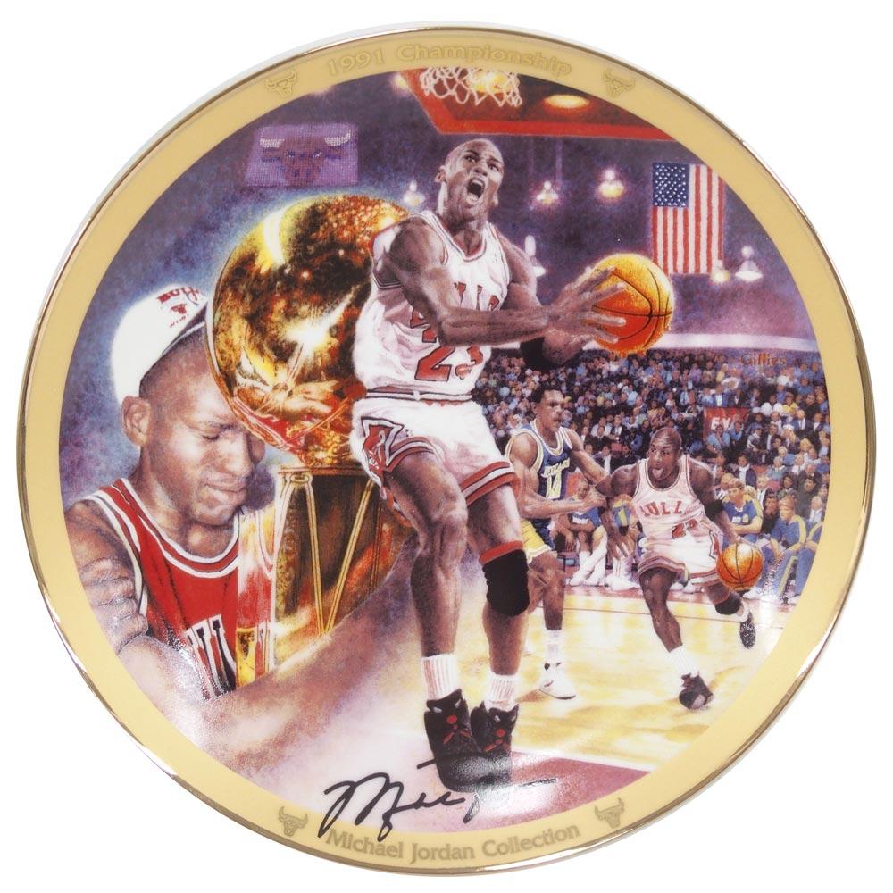 NBA ブルズ マイケル・ジョーダン コレクター プレート 1991 チャンピオンシップ (3029G) Upper Deck