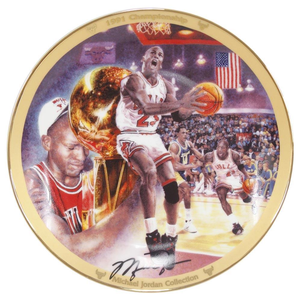 NBA ブルズ マイケル・ジョーダン コレクター プレート 1991 チャンピオンシップ (12692G) Upper Deck