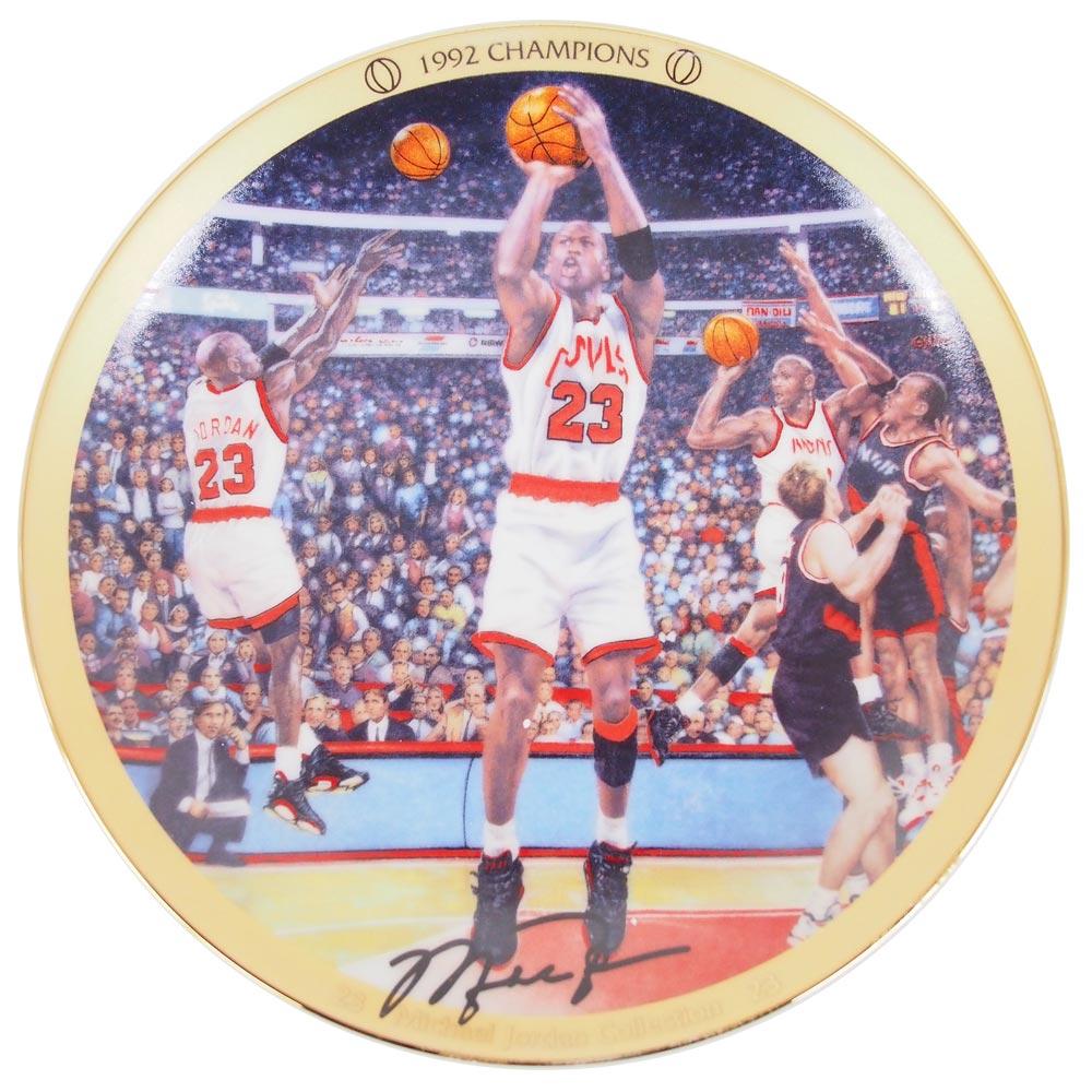 NBA ブルズ マイケル・ジョーダン コレクター プレート 1992 チャンピオン (1439C) Upper Deck レアアイテム