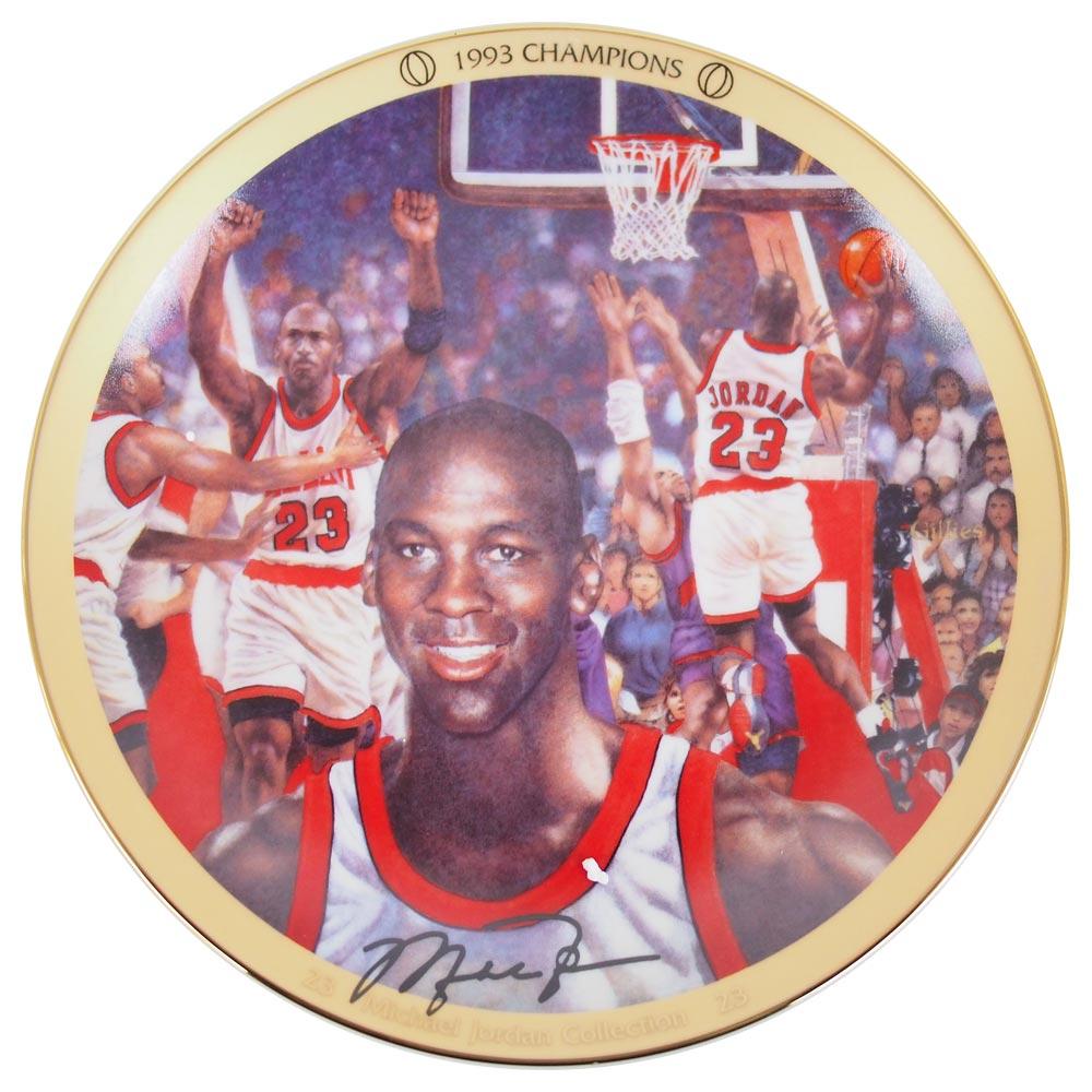 NBA ブルズ マイケル・ジョーダン コレクター プレート 1993 チャンピオン (2523B) Upper Deck