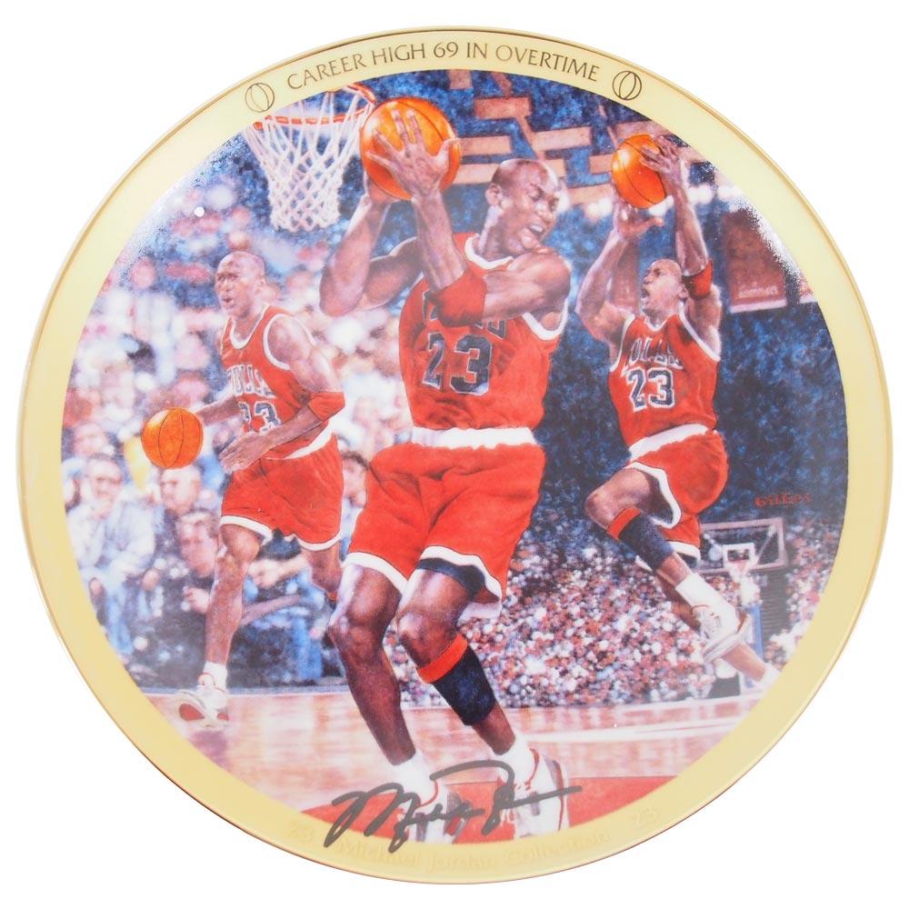 NBA ブルズ マイケル・ジョーダン コレクター プレート キャリアハイ 69 イン オーバータイム (3543A) Upper Deck レアアイテム