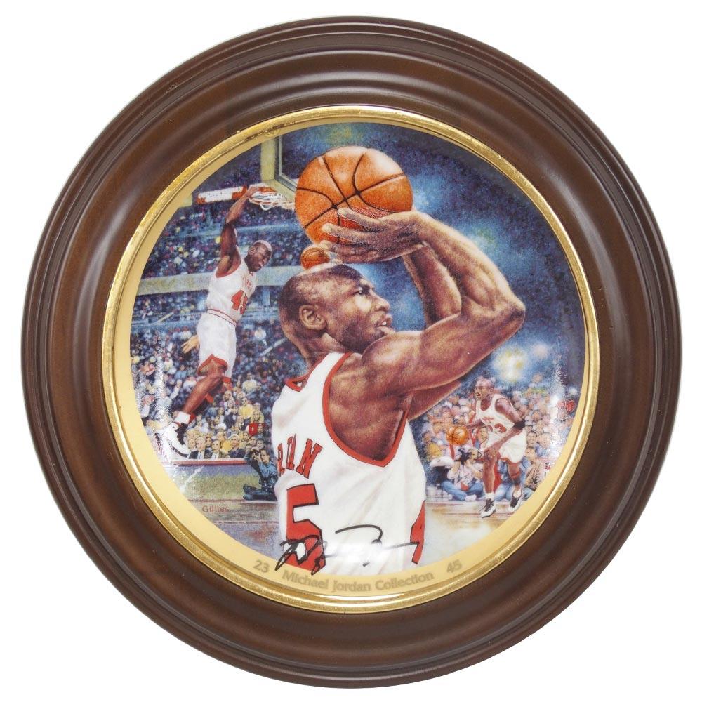 NBA ブルズ マイケル・ジョーダン コレクター プレート ディスプレイケース付き ザ・カムバック (2743A) Upper Deck レアアイテム