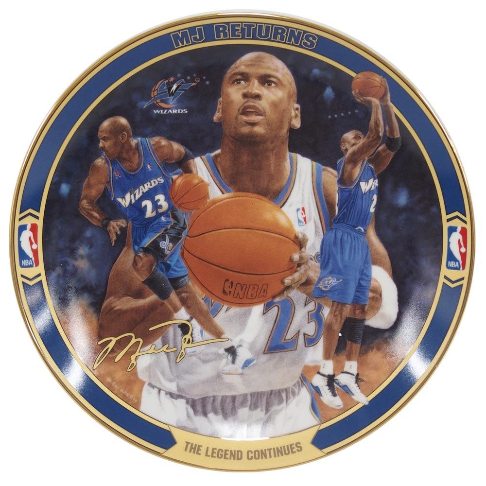 NBA ウィザーズ マイケル・ジョーダン リターンズ コレクタブル プレート ザ・レジェンド コンティニューズ (721A) Upper Deck レアアイテム