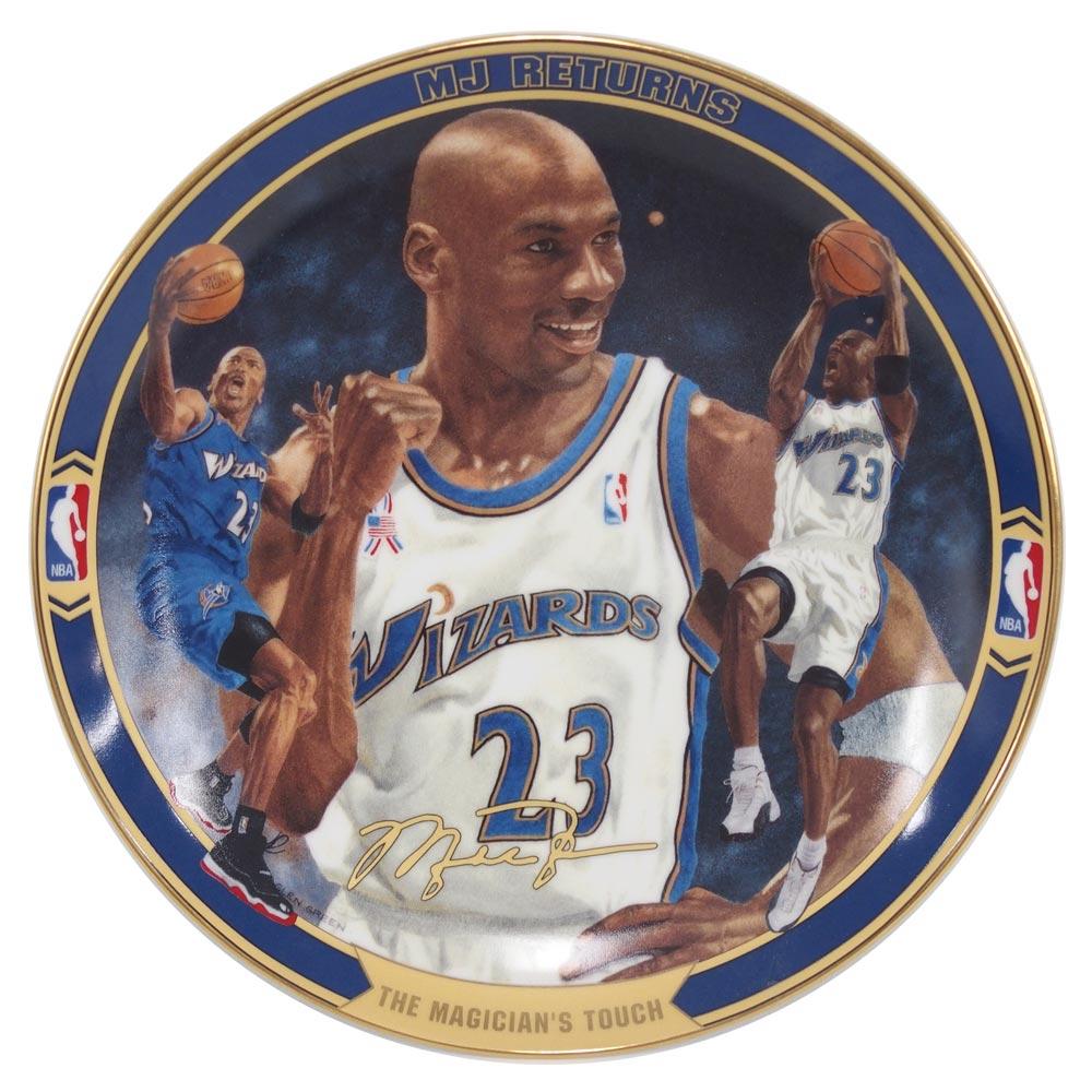 NBA ウィザーズ マイケル・ジョーダン リターンズ コレクタブル プレート ザ・マジシャンズ タッチ (2073A) Upper Deck レアアイテム