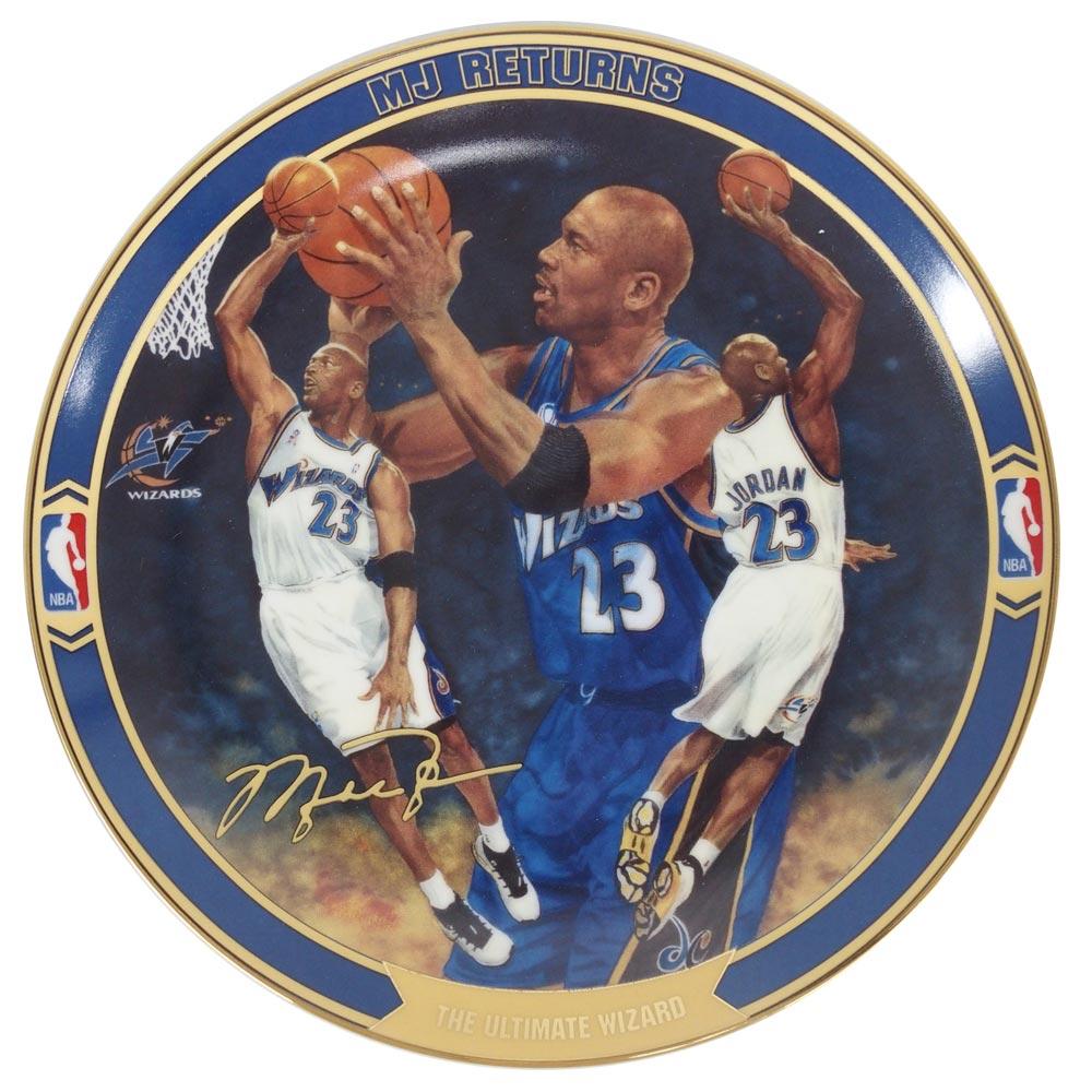 NBA ウィザーズ マイケル・ジョーダン リターンズ コレクタブル プレート アルティメイト・ウィザード (3045A) Upper Deck