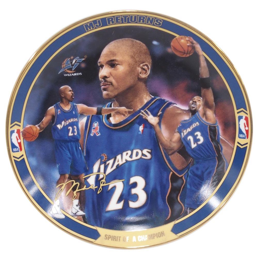 NBA ウィザーズ マイケル・ジョーダン リターンズ コレクタブル プレート スピリット・オブ・チャンピオン (6578A) Upper Deck レアアイテム