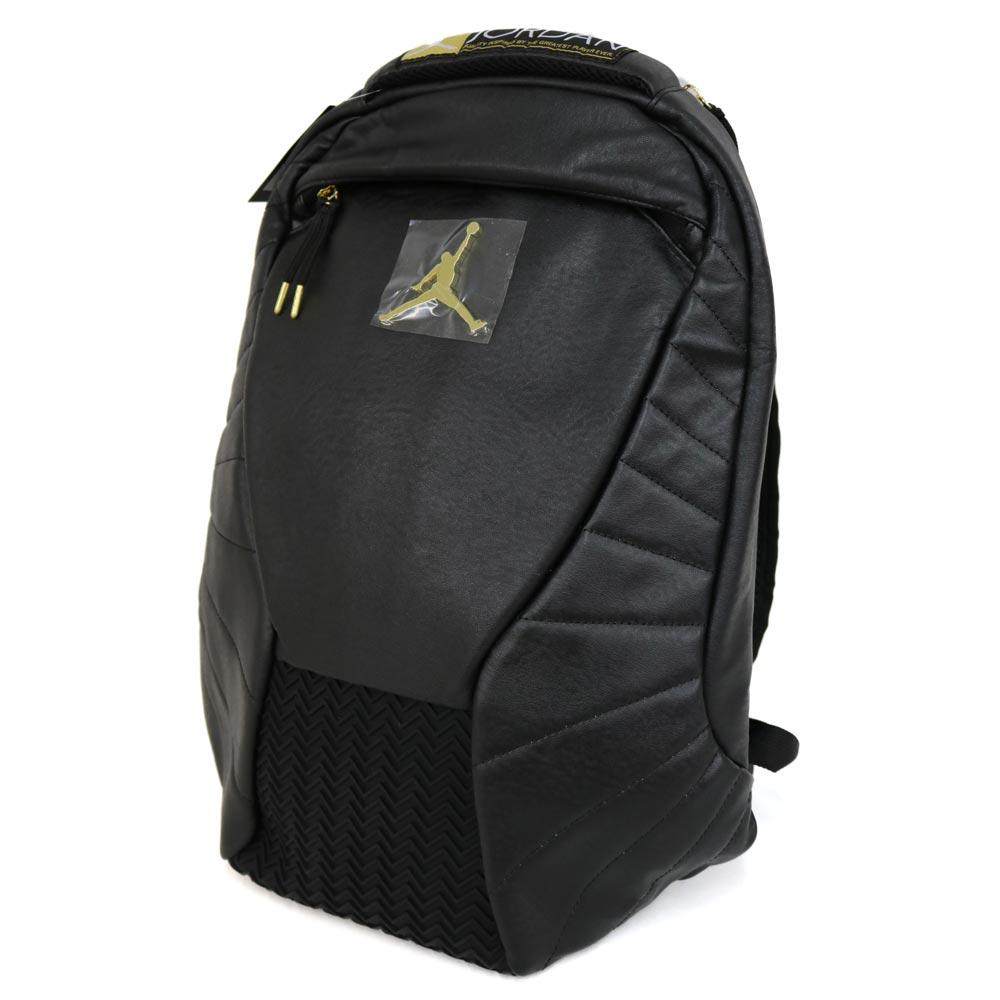 0734a6cab46 12 Nike Jordan /NIKE JORDAN Jordan nostalgic backpack black / gold 9A1773- 429 ...