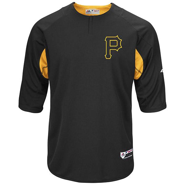 お取り寄せ MLB パイレーツ オーセンティック オンフィールド BP ユニフォーム マジェスティック/Majestic ブラック