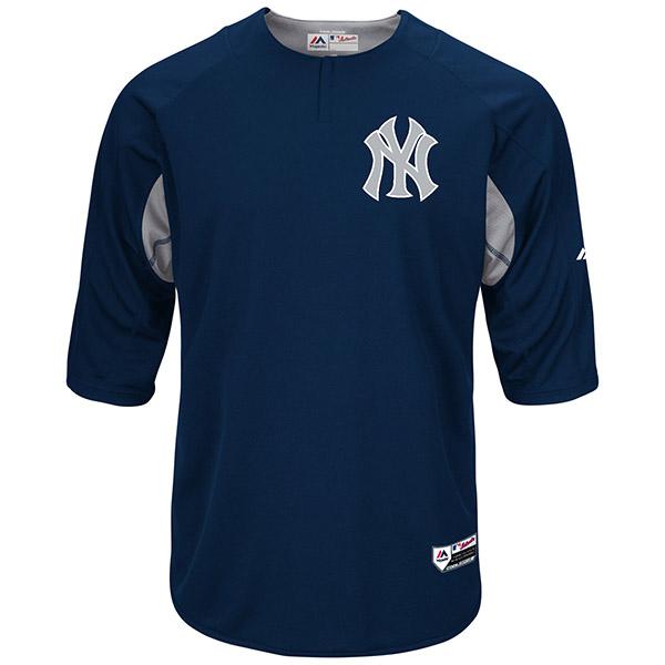 お取り寄せ MLB ヤンキース オーセンティック オンフィールド BP ユニフォーム マジェスティック/Majestic ネイビー