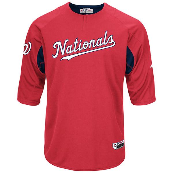 お取り寄せ MLB ナショナルズ オーセンティック オンフィールド BP ユニフォーム マジェスティック/Majestic レッド