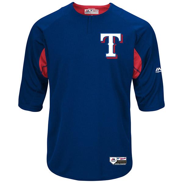 お取り寄せ MLB レンジャーズ オーセンティック オンフィールド BP ユニフォーム マジェスティック/Majestic ロイヤル