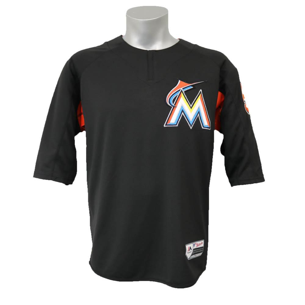 MLB マーリンズ イチロー オーセンティック オンフィールド BP ユニフォーム マジェスティック/Majestic ブラック【1803セール】