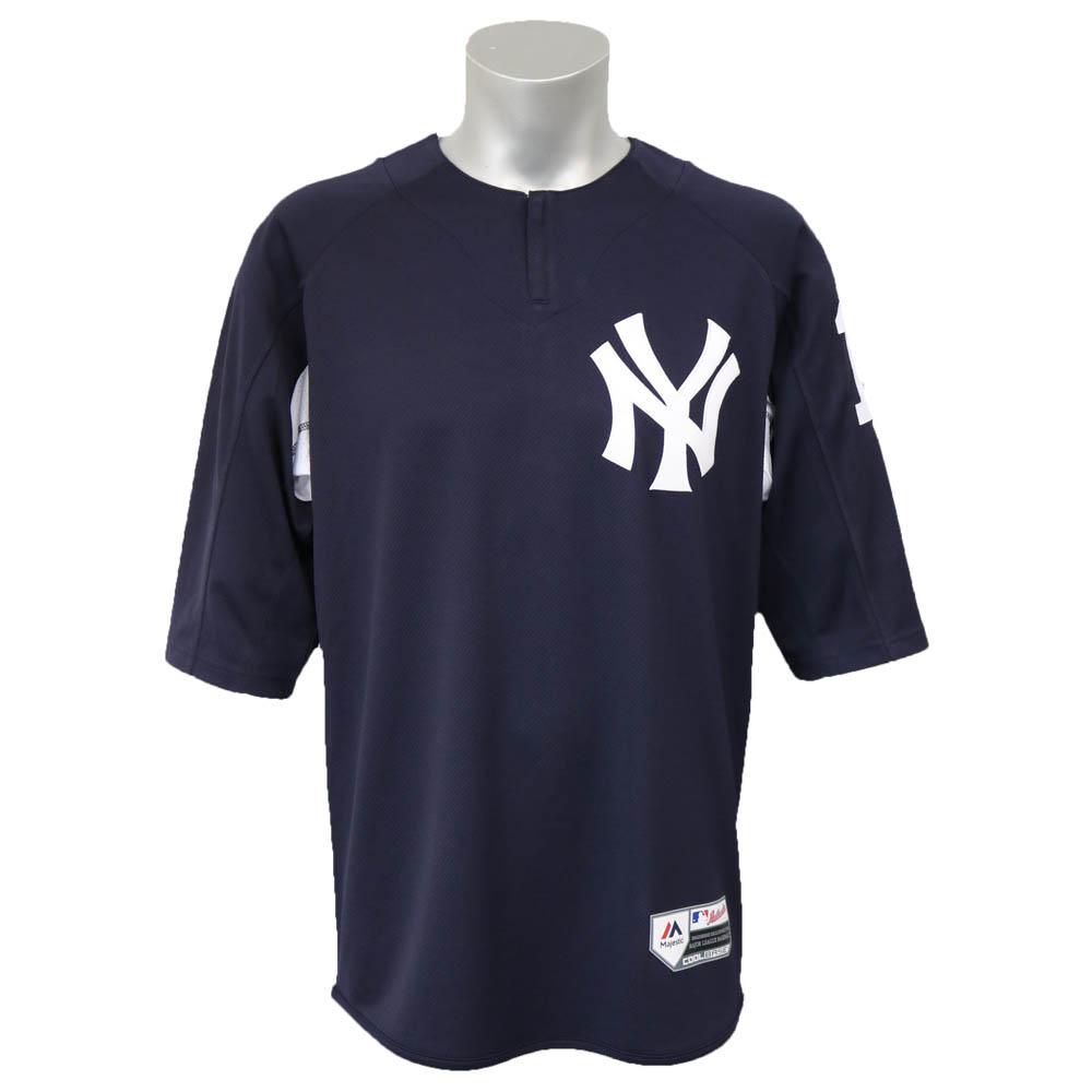 MLB ヤンキース 田中将大 オーセンティック オンフィールド BP ユニフォーム マジェスティック/Majestic ネイビー【1803セール】
