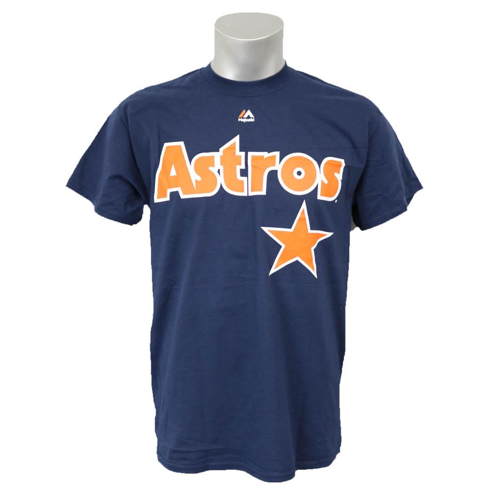 MLB Astros克雷格·bijiokupazutaunnemu&号码T恤Majestic/Majestic深蓝