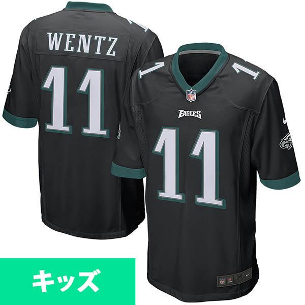 お取り寄せ NFL イーグルス カーソン・ウェンツ キッズ ゲーム ユニフォーム ナイキ/Nike ブラック