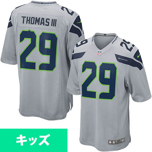 お取り寄せ NFL シーホークス アール・トーマス キッズ ゲーム ユニフォーム ナイキ/Nike グレー