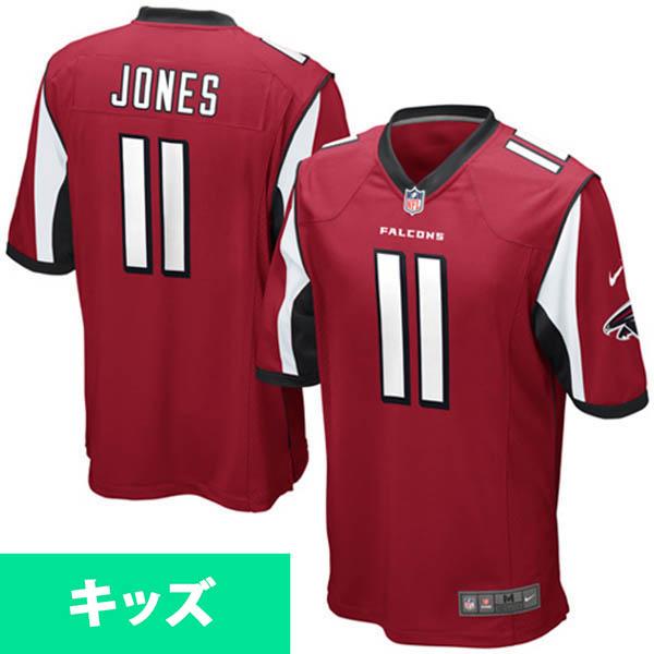 お取り寄せ NFL ファルコンズ フリオ・ジョーンズ キッズ ゲーム ユニフォーム ナイキ/Nike レッド