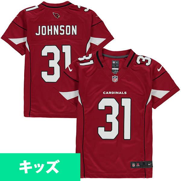 お取り寄せ NFL カーディナルス デイビット・ジョンソン キッズ ゲーム ユニフォーム ナイキ/Nike カーディナル