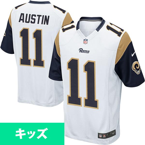 お取り寄せ NFL ラムズ タボン・オースティン キッズ ゲーム ユニフォーム ナイキ/Nike ホワイト