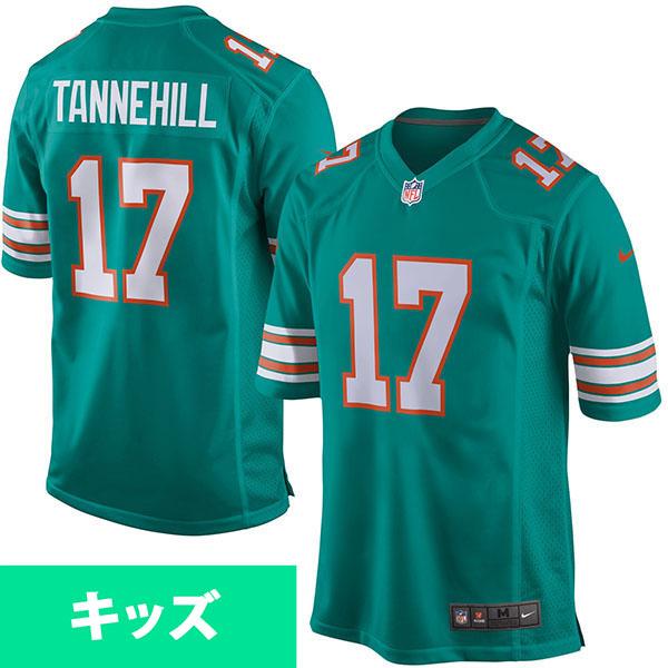 お取り寄せ NFL ドルフィンズ ライアン・タネヒル キッズ ゲーム ユニフォーム ナイキ/Nike アクア