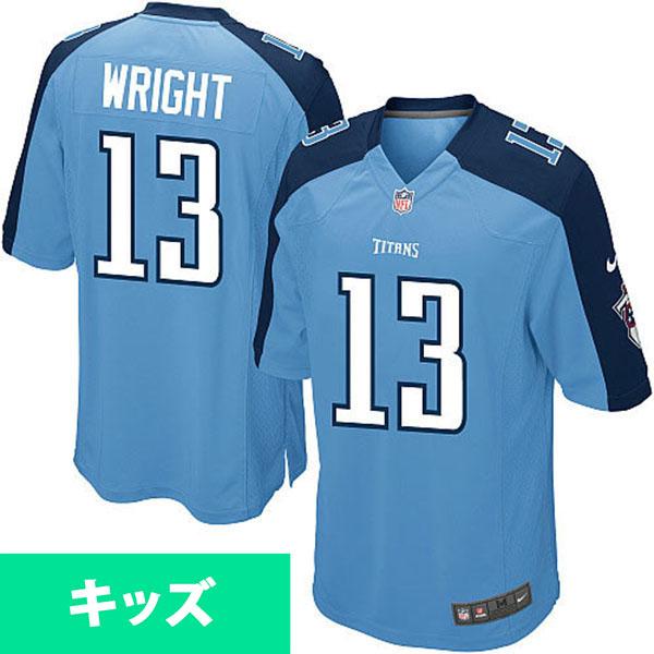 お取り寄せ NFL タイタンズ ケンドール・ライト キッズ ゲーム ユニフォーム ナイキ/Nike ライトブルー