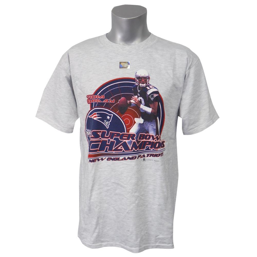 NFL ペイトリオッツ トム・ブレイディ 第36回 スーパーボウル チャンピオン 記念 Tシャツ ヘザーグレー レアアイテム