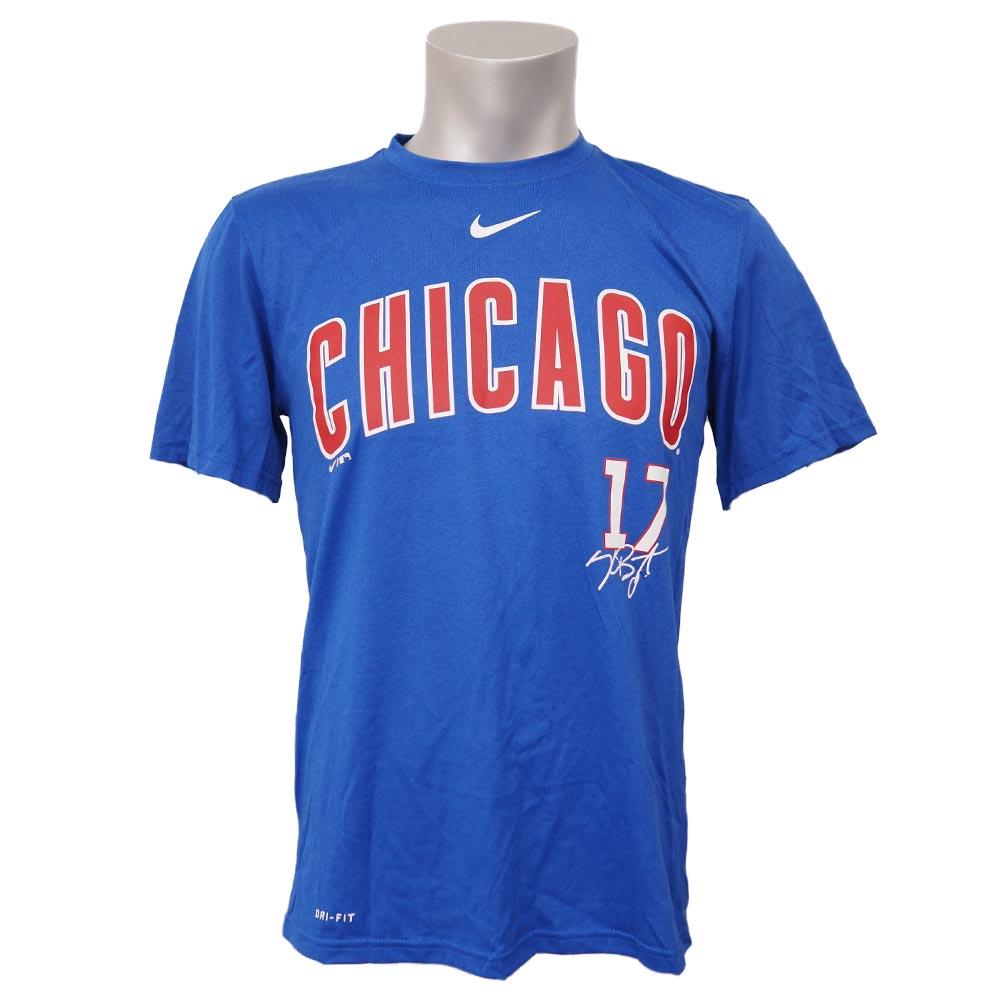 new concept a72aa 9c3d3 MLB Cubs Chris Bryant legend signature performance T-shirt Nike /Nike blue  00035956X