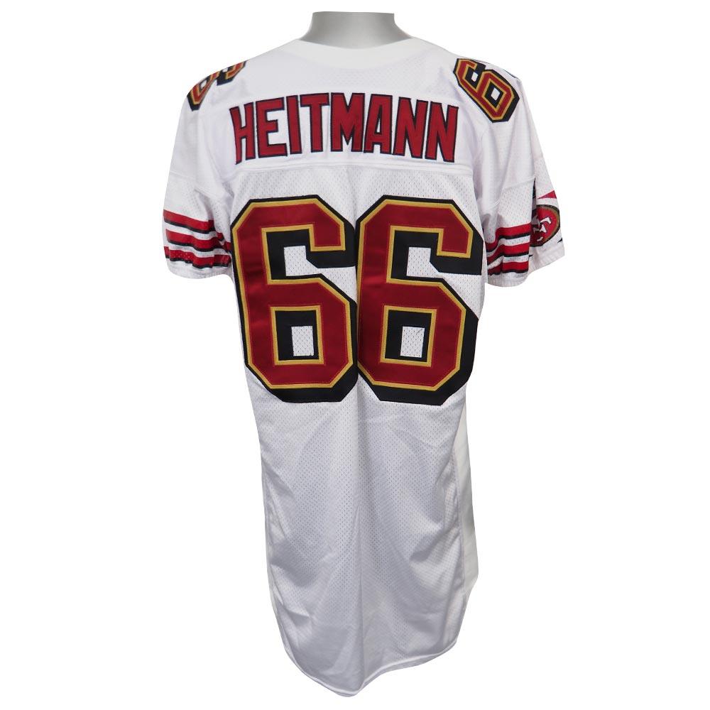 スーパーボウル進出 NFL 49ers エリック・ハイトマン プロカット ユニフォーム Osaka 2002 リーボック/Reebok ホワイト