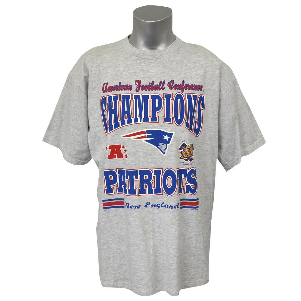 NFL ペイトリオッツ 2003 AFC カンファレンス チャンピオン記念 Tシャツ グレー レアアイテム レアアイテム レアアイテム