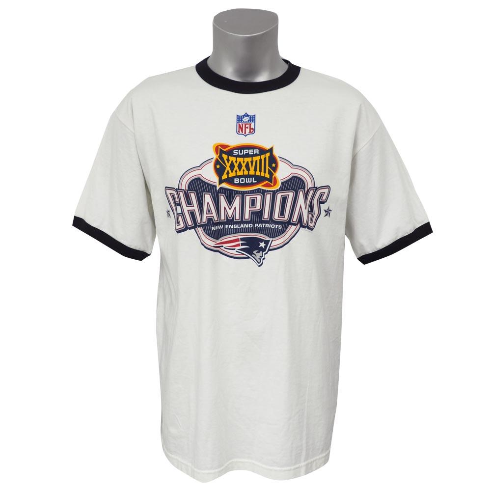 NFL ペイトリオッツ 第38回 スーパーボウル 優勝記念 Tシャツ Super Bowl XXXVIII ホワイト レアアイテム