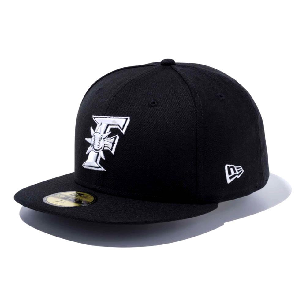 北海道日本ハムファイターズ グッズ カスタム カラー キャップ/帽子 ニューエラ/New Era ブラック/ホワイト(F)【1910価格変更】【191028変更】