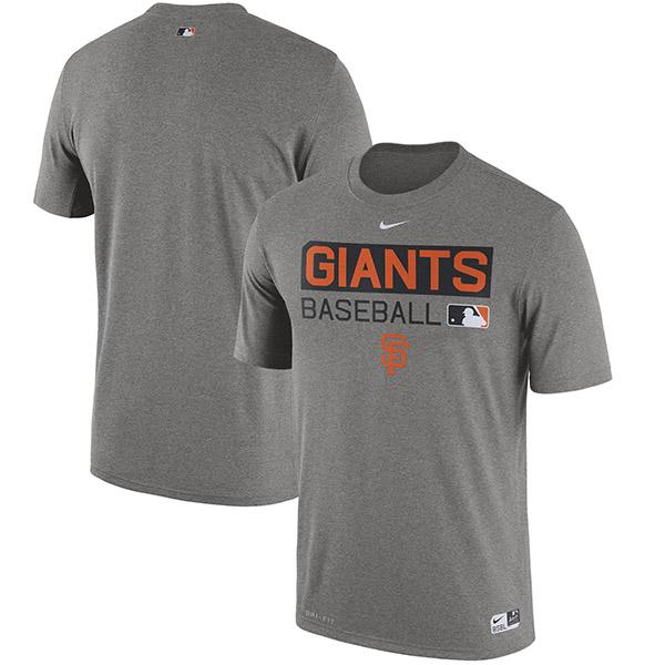 お取り寄せ MLB ジャイアンツ オーセンティック パフォーマンス Tシャツ ナイキ/Nike グレー