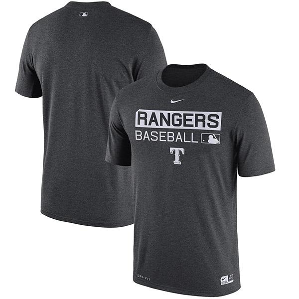 お取り寄せ MLB レンジャーズ オーセンティック パフォーマンス Tシャツ ナイキ/Nike チャコール