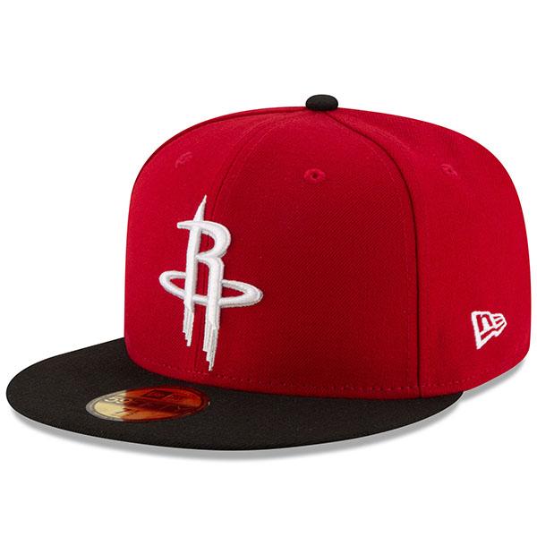 お取り寄せ NBA ロケッツ オフィシャル チームカラー 2トーン 59FIFTY キャップ/帽子 ニューエラ/New Era Red/Black
